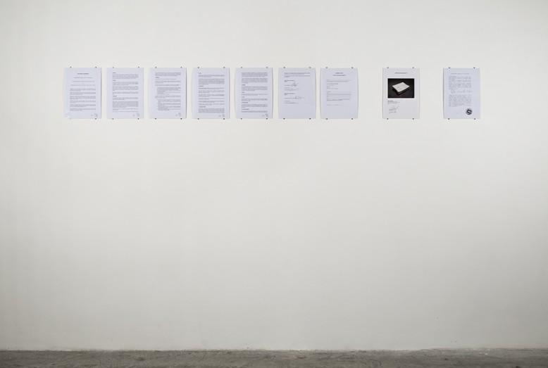 Ph- Altrospazio Etienne Chambaud, Lo stato delle sirene. Installation view, Nomas Foundation, Rome.2010