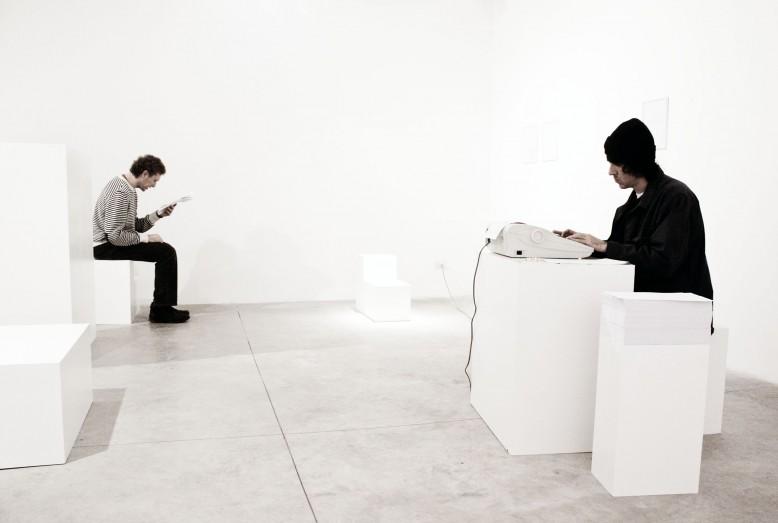 Ph- Altrospazio. Etienne Chambaud, Lo stato delle sirene. Installation view, Nomas Foundation, Rome. 2010