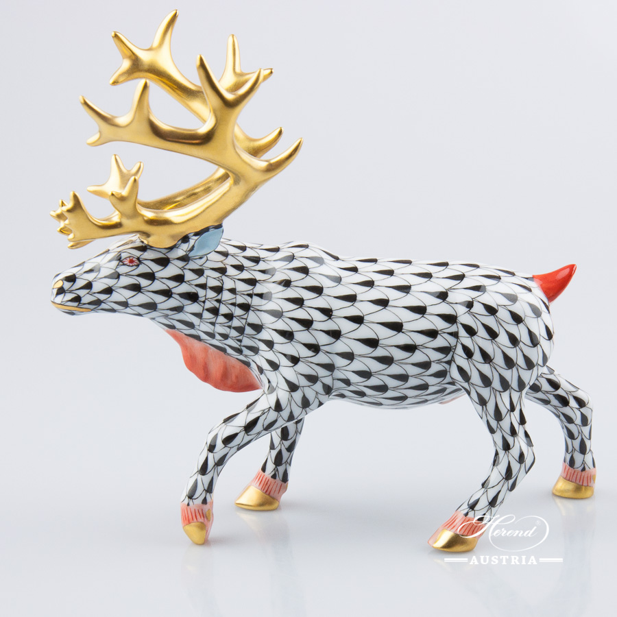 Deer-Reindeer-15659-0-00-VHN-Herend-Animal-Figurine-2