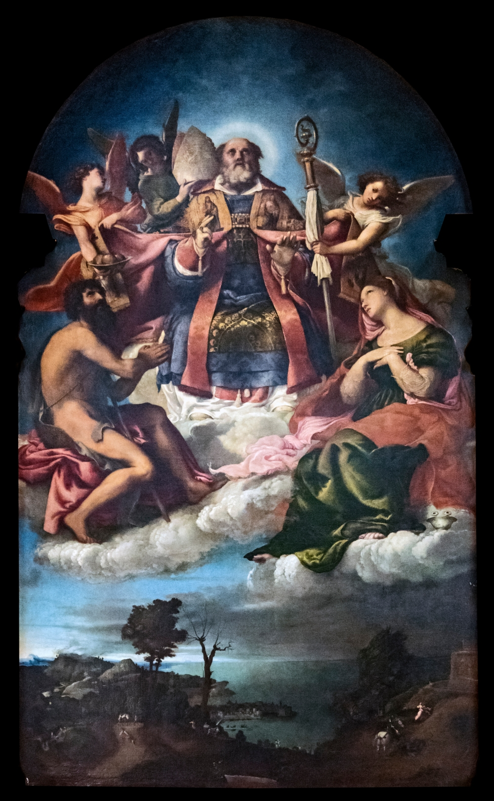 santa_maria_dei_carmini_28venice29_-_saint_nicholas_in_glory_with_saints_john_the_baptist_and_lucy_by_lorenzo_lotto